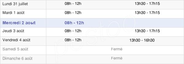 horaires d'ouverture de la Mairie De Servières-Le-Château