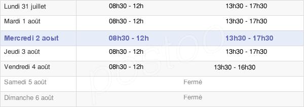 horaires d'ouverture de la Mairie D'Eygurande