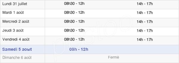horaires d'ouverture de la Mairie De Saint-Clément
