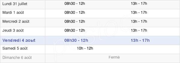 horaires d'ouverture de la Mairie D'Auterive