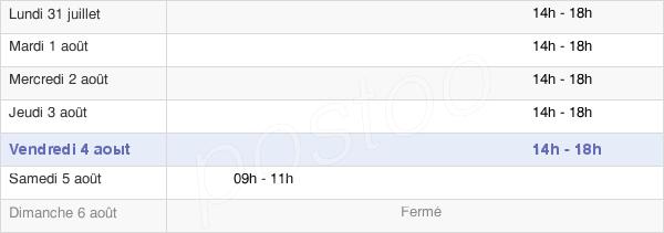 horaires d'ouverture de la Mairie De Estivaux