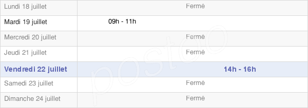 horaires d'ouverture de la Mairie De La Petite-Fosse