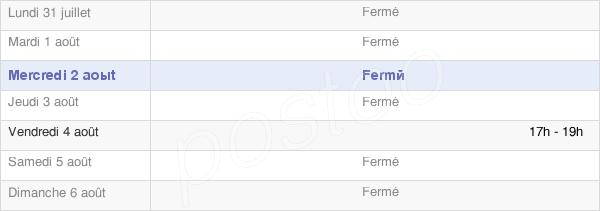 horaires d'ouverture de la Mairie De Hennecourt
