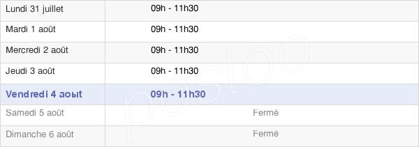 horaires d'ouverture de la Mairie De Bellefontaine