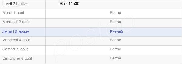horaires d'ouverture de la Mairie De Brechainville
