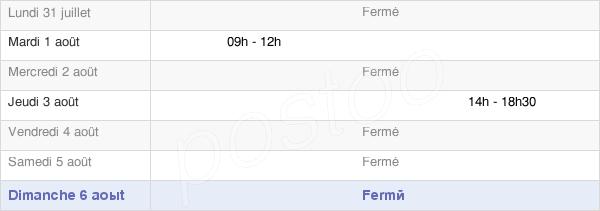 horaires d'ouverture de la Mairie De Tendon
