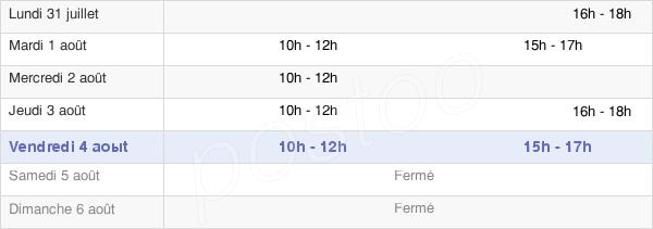 horaires d'ouverture de la Mairie De Laval-Sur-Vologne