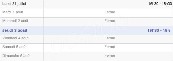horaires d'ouverture de la Mairie De Fiménil