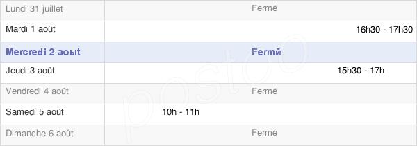 horaires d'ouverture de la Mairie De Sauville