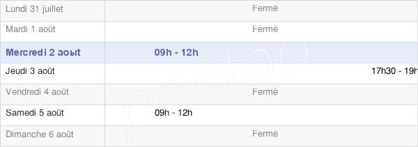 horaires d'ouverture de la Mairie De Nayemont-Les-Fosses