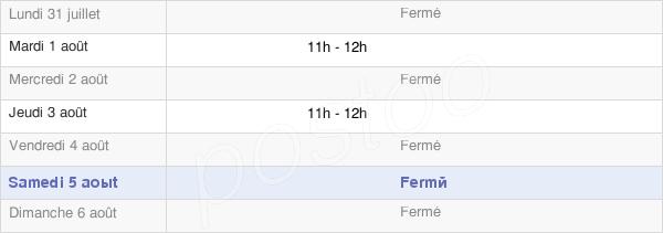 horaires d'ouverture de la Mairie D'Isches