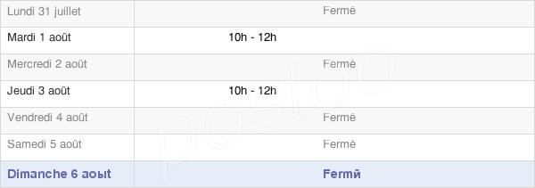 horaires d'ouverture de la Mairie De Le Mont