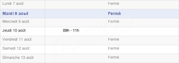 horaires d'ouverture de la Mairie De Deinvillers