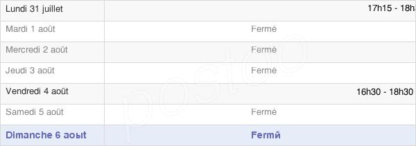 horaires d'ouverture de la Mairie De Senaide