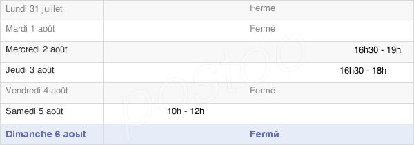 horaires d'ouverture de la Mairie De Florémont