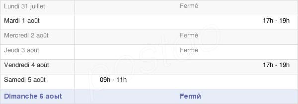 horaires d'ouverture de la Mairie De La Baffe