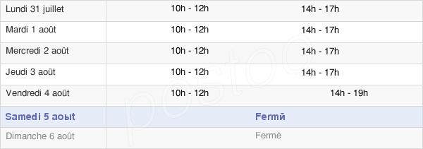 horaires d'ouverture de la Mairie De Saint-Amé