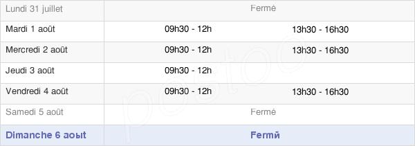 horaires d'ouverture de la Mairie Du Ménil
