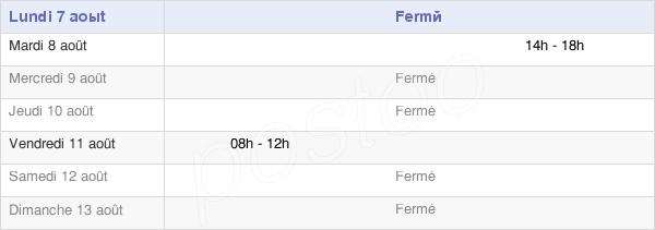 horaires d'ouverture de la Mairie De Hagécourt