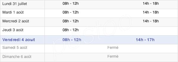 horaires d'ouverture de la Mairie De Corcieux