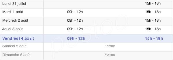 horaires d'ouverture de la Mairie D'Arches