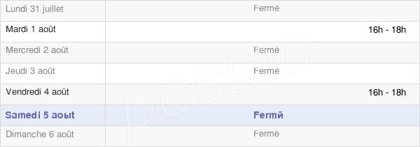 horaires d'ouverture de la Mairie De Remomeix