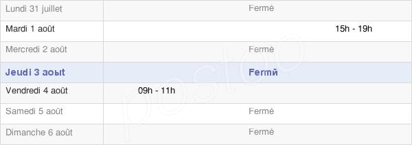horaires d'ouverture de la Mairie De Saint-Gorgon