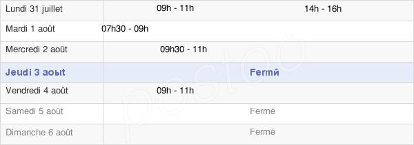 horaires d'ouverture de la Mairie De Trémonzey
