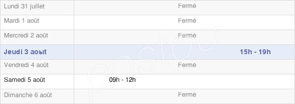 horaires d'ouverture de la Mairie De Saint-Jean-Lherm