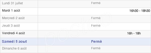horaires d'ouverture de la Mairie De Belmont-Sur-Buttant