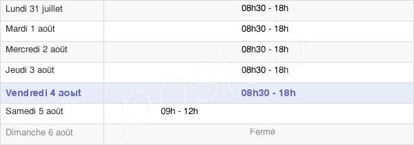 horaires d'ouverture de la Mairie De Tournefeuille