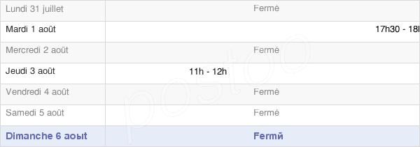 horaires d'ouverture de la Mairie De Pompierre