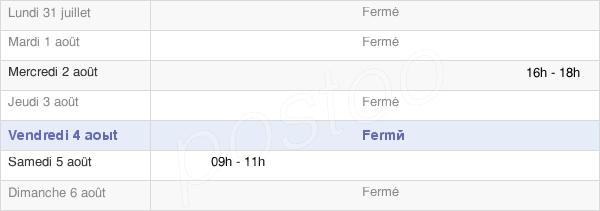 horaires d'ouverture de la Mairie D'Auzainvilliers