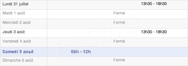 horaires d'ouverture de la Mairie De Soulosse-Sous-Saint-Élophe