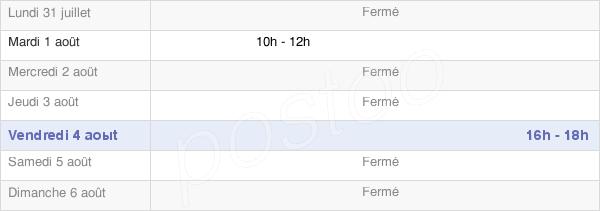 horaires d'ouverture de la Mairie De Suriauville