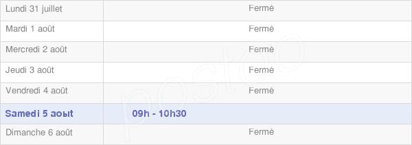horaires d'ouverture de la Mairie De Saint Genest