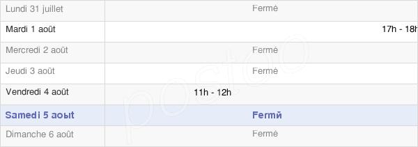 horaires d'ouverture de la Mairie De Crainvilliers