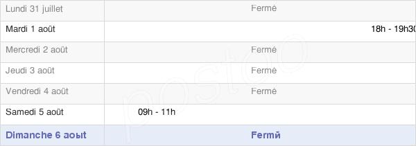 horaires d'ouverture de la Mairie De Socourt