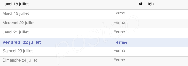 horaires d'ouverture de la Mairie De Gendreville
