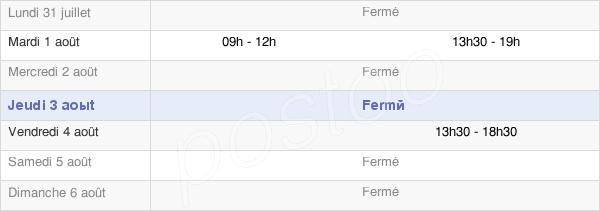 horaires d'ouverture de la Mairie De Certilleux
