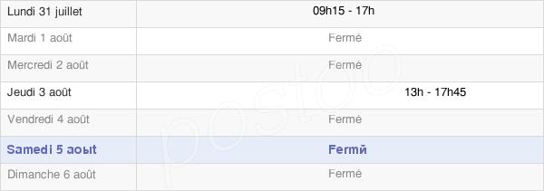 horaires d'ouverture de la Mairie De Provenchères-Lès-Darney