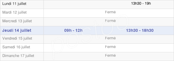 horaires d'ouverture de la Mairie De Rebeuville