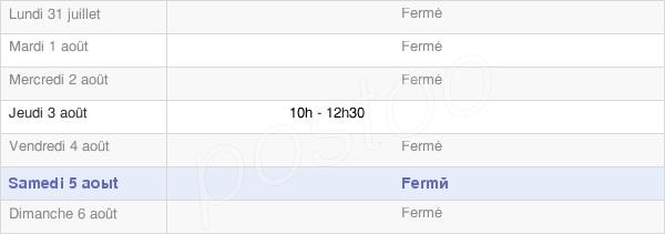 horaires d'ouverture de la Mairie De Longchamp Sous Chatenois