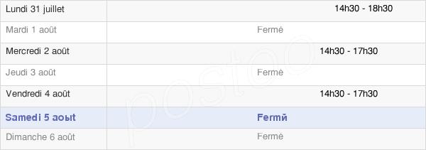 horaires d'ouverture de la Mairie De Lubine