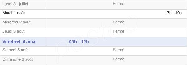 horaires d'ouverture de la Mairie De Saulxures-Lès-Bulgnéville