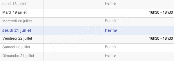 horaires d'ouverture de la Mairie De Domremy-La-Pucelle