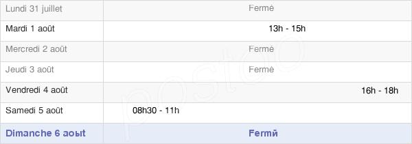 horaires d'ouverture de la Mairie D'Évaux-Et-Ménil