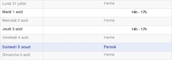 horaires d'ouverture de la Mairie De Fomerey