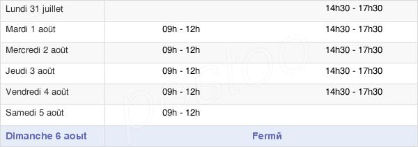 horaires d'ouverture de la Mairie De Lacroix-Falgarde