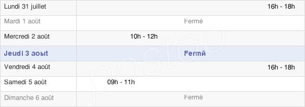 horaires d'ouverture de la Mairie De Domèvre-Sur-Avière